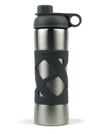 500ML STAINLESS STEEL INSULATED CLEAN WATER BOTTLE - CHARCOAL