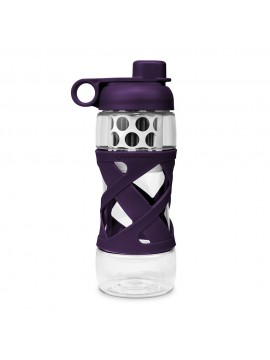 650ML PLASTIC FILTER BOTTLE WITH SLEEVE  - PLUM