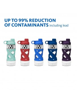 650ML PLASTIC FILTER BOTTLE WITH SLEEVE  - BLUE