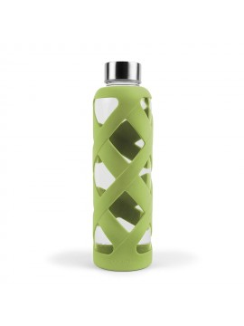 550ML PREMIUM BOROSILICATE GLASS BOTTLE WITH SLEEVE - AVOCADO
