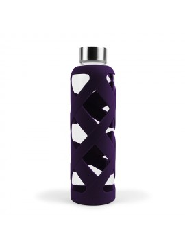 550ML PREMIUM BOROSILICATE GLASS BOTTLE WITH SLEEVE - PLUM